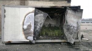Strażacy gasili pożar kontenera z... marihuaną