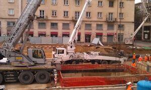 Specjalne posiedzenie służb w sprawie awarii na budowie metra