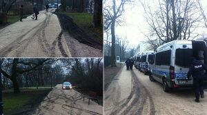 """Pilnują Sejmu, zniszczyli zieleń. """"Park zamienił się w poligon"""""""