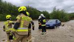 Podtopienia aut w Śnietnicy w woj. małopolskim (OSP KSRG Brunary)