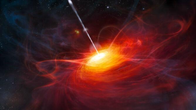 Czarne dziury emitują superszybki wiatr. <br />Osiąga prędkość ponad 200 mln km/h