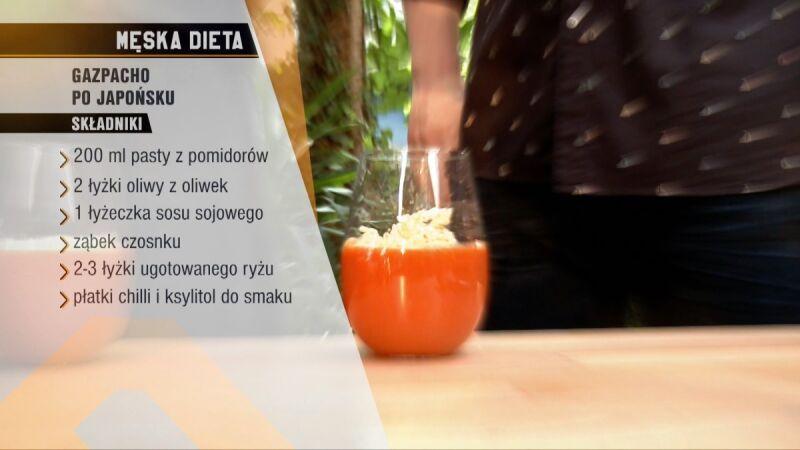 Składniki gazpacho po japońsku