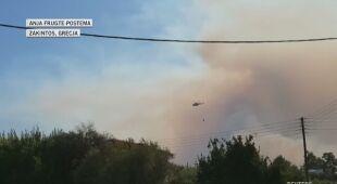 Pożary na greckiej wyspie Zakintos