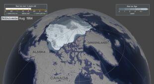 Topnienie lodu w Arktyce w przeciągu 35 lat