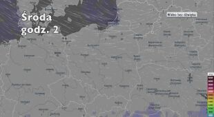 Potencjalne miejsca rozwoju burz w najbliższych dniach (Ventusky.com)